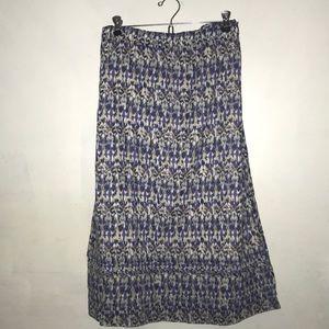 NWOT Eddie Bauer Elastic Waist Travel Skirt